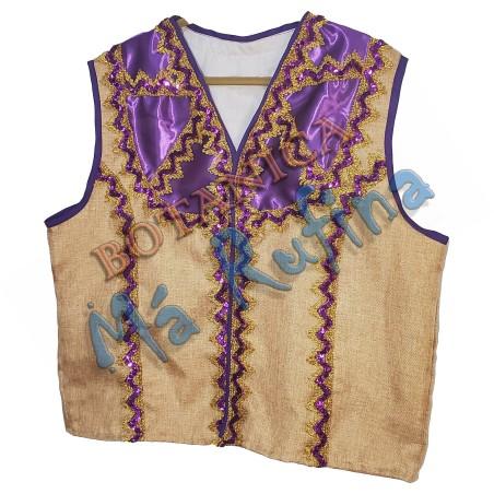 Purple & Burlap Vest of San Lazaro / Babalu Aye No.3