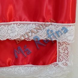 Pañuelo Rojo de Satin con...