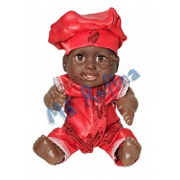 "Baby Boy dressed Red 9"" Chango"