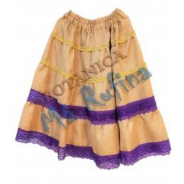 Purple & Burlap Skirt San...