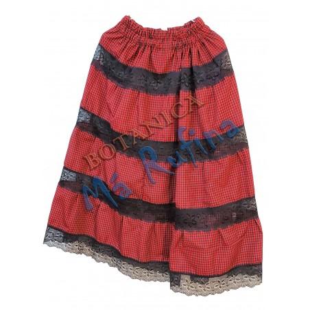 Black / Red Ghingham Skirt Eleggua