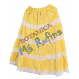 Yellow Ghingham Skirt Oshun