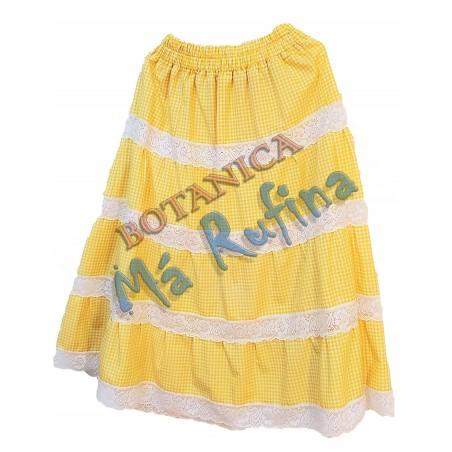 Yellow Ghingham Skirt Oshun