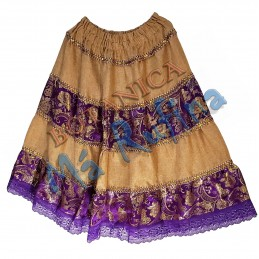 Purple & Burlap Skirt San...