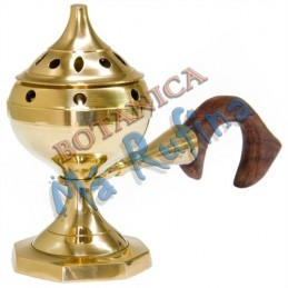 "Brass Burner with Handle 4""H"